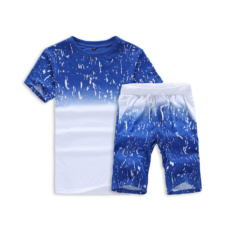 Wholesale Custom New Fashion Summer Jogging Men Short Sleeve Tshirt And Shorts Set Gym Running Track Sport Suit For Men Oversize