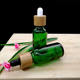 30ml green glass dropper essential oil bottle pipette bottle cosmetic packaging with eco-friendly bamboo wood lid