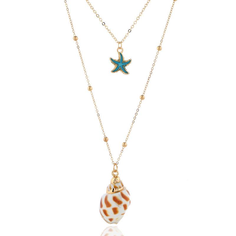 Stylish Beach Bohemian Sea Shell Pendant Chain Choker Necklace Women Jewelry E/&F