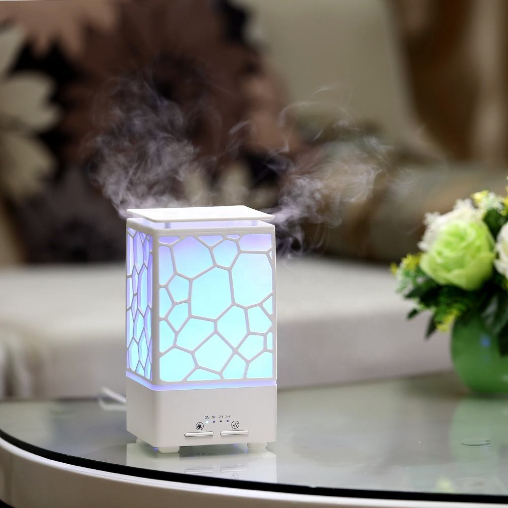Amazon best selling ultrasonic portable home fragrance diffuser with colorful atmosphere lamp