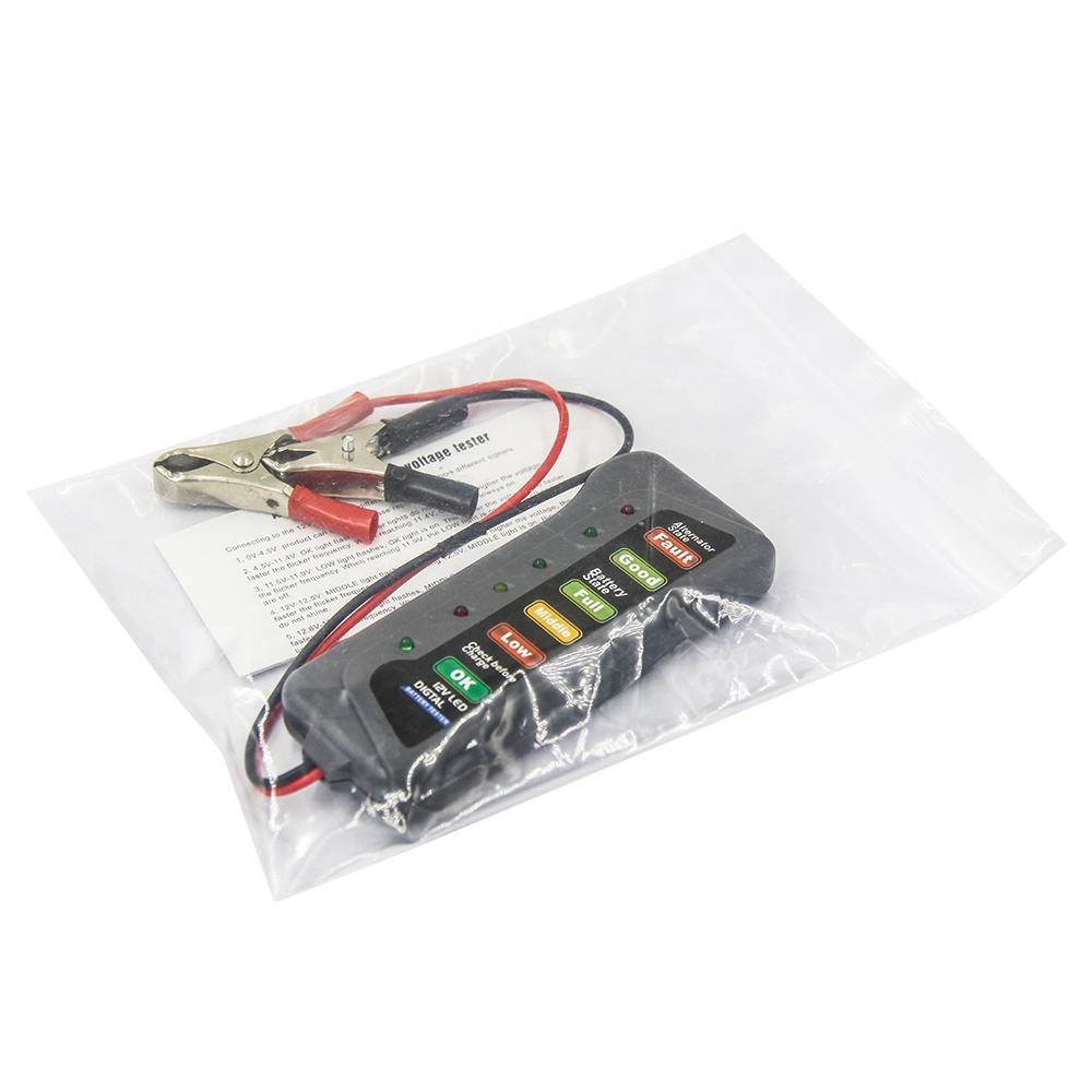 Universal car 12V Digital Battery Tester tool Analyzer Tool with 6 LED for the status of battery checking
