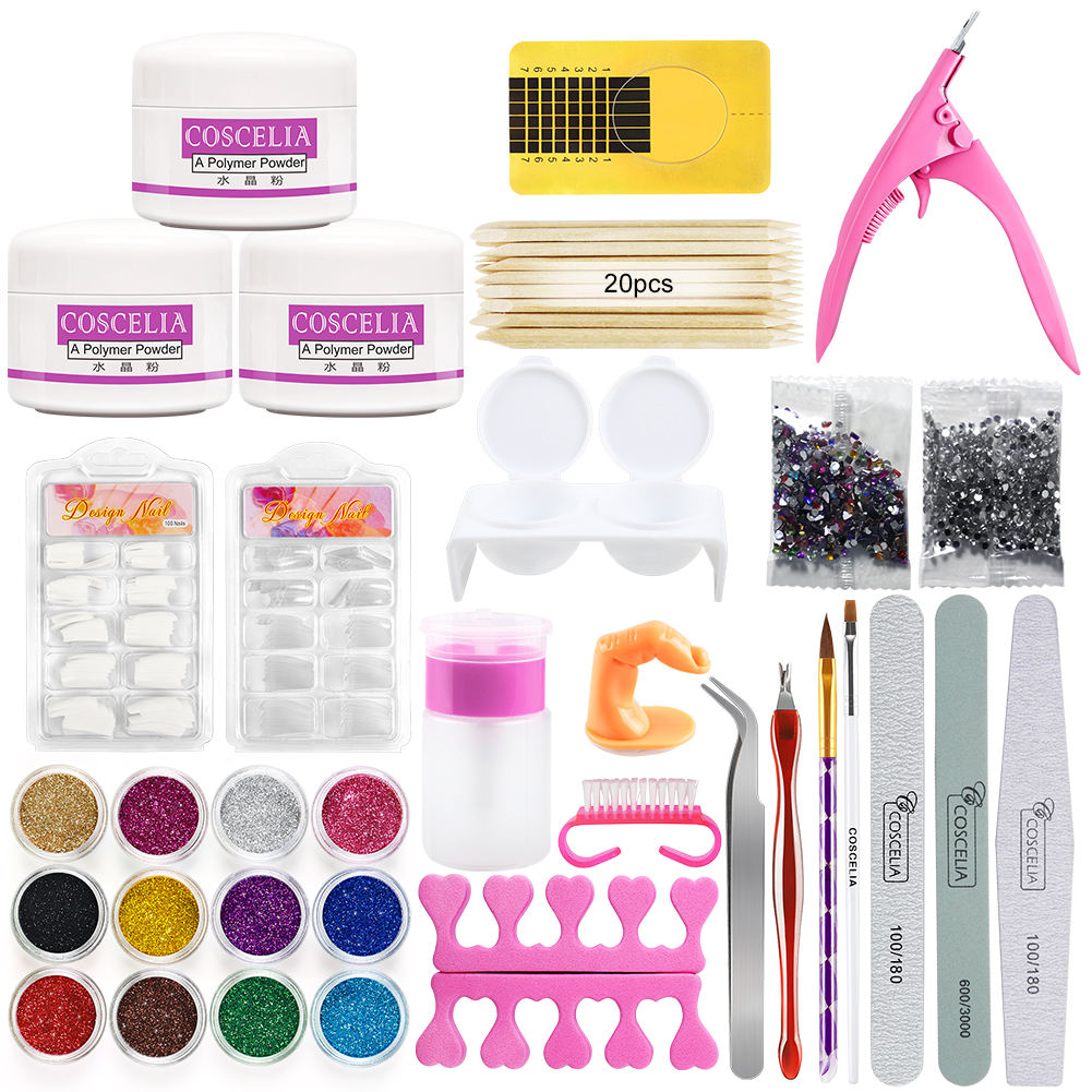COSCELIA Factory Direct Sales of a Full Set of Manicure Tools Acrylic Powder Gel Set
