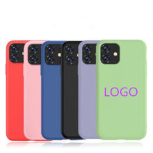 Offical Logo Original Liquid Silicone Case for Apple iPhone 11 Pro Max X XS XR 6S 7 8PLUS SE 2020 Mobile Phone Case
