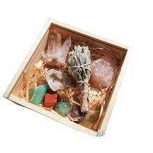 Robin Crystal Wholesale Abundance and Prosperity Chakra Gemstone Crystal Gift Box Kit for Therapy Healing