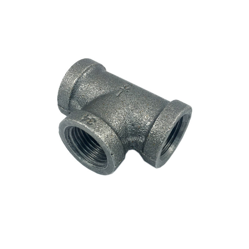 "black cast iron pipe fittings 3/4"" 3 way pipe fitting en standard malleable tee 3/4"" black tee malleable iron pipe fitting"