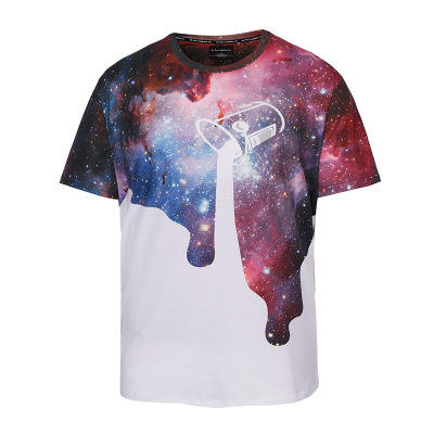 MGOO Spot Products Polyester T-shirts O-Neck digital Allover printing Short Sleeve Men t shirts tee