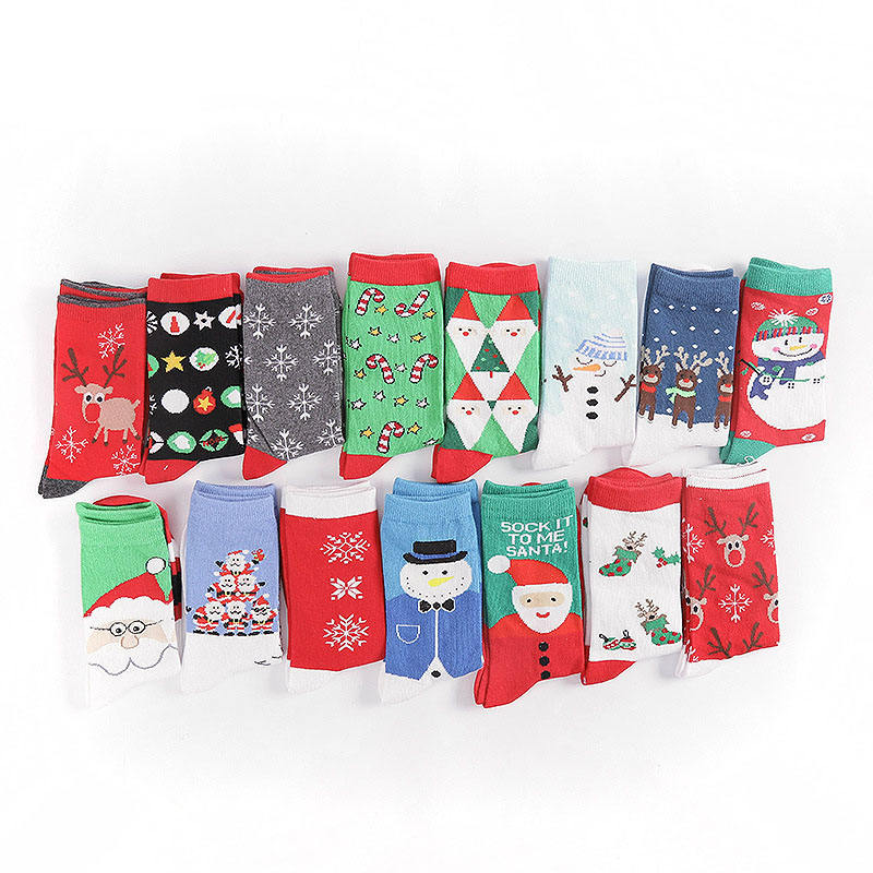 Santa Claus Elk Snowman Christmas Tree New Year Stockings Wholesale Custom Design Cute Fashion Christmas Socks