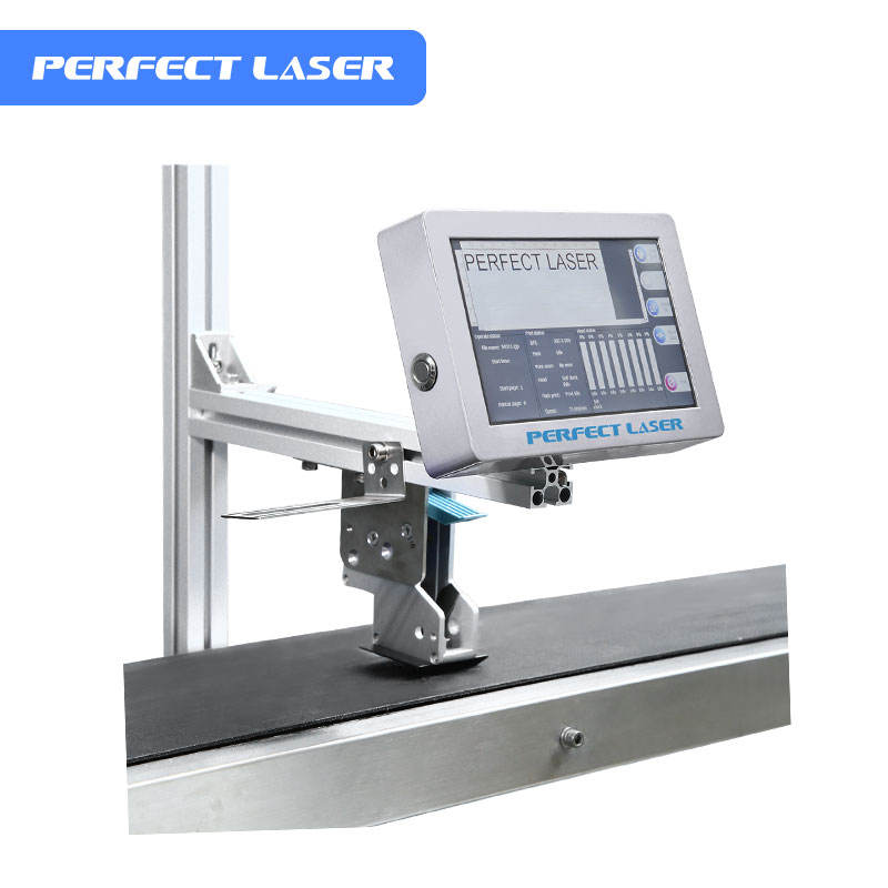 Perfect Laser Dual Head Industrial Inkjet Date Coder Machine On QR Code/Number/Letter
