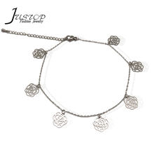 Fashion women anklet jewelry feet jewelry anklet rose foot chain
