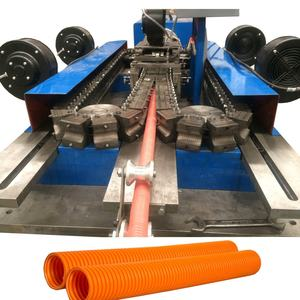 Machine de conduit ondulé flexible en plastique/ligne de production de tuyaux en spirale