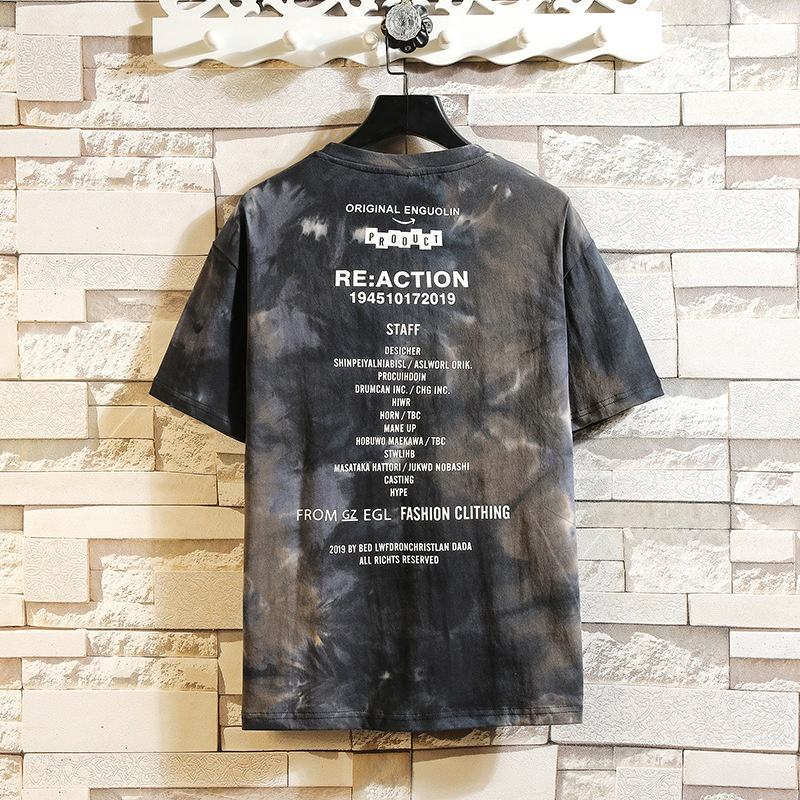 Custom made clothing tie dye t shirts oversized loose hip hop tshirt with custom clothing manufacturer