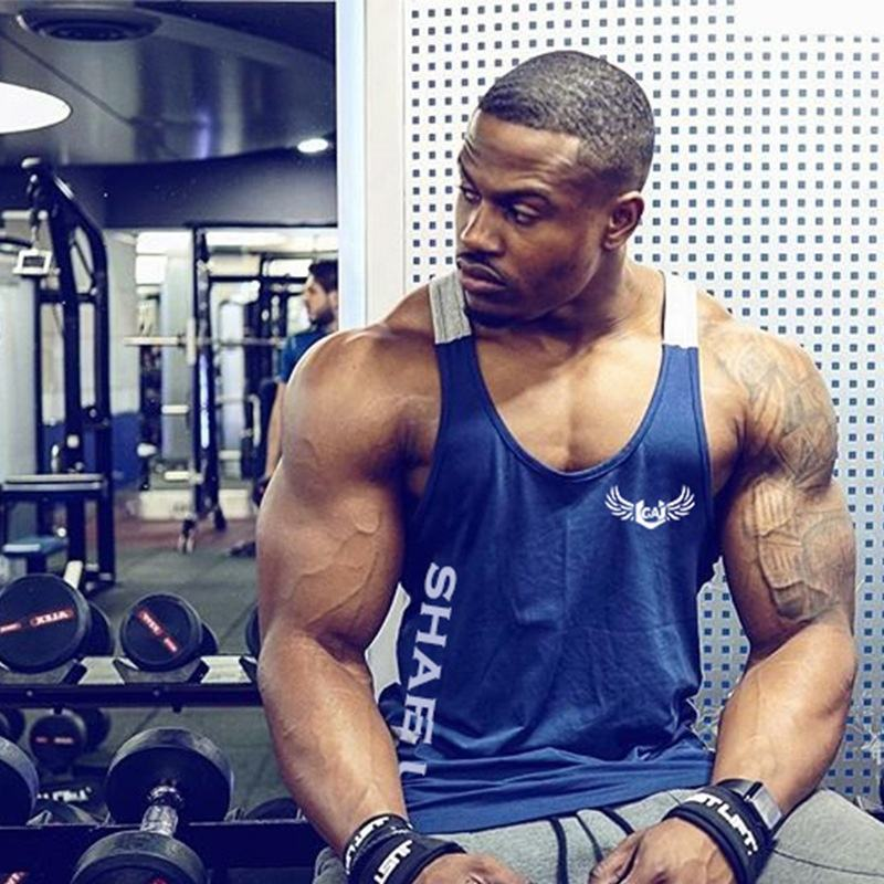 Tank top men gym muscle vest men's tank tops bodybuilding clothing for gym wear