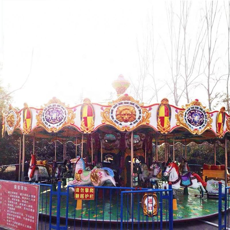 Kids Small Carrousel Amusement Park Equipment Manufacturers