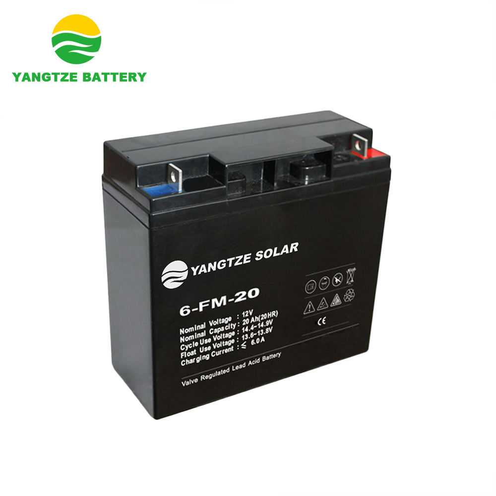 Yangtze Free shipping 12v 20ah 20hr ups 6fm20 battery