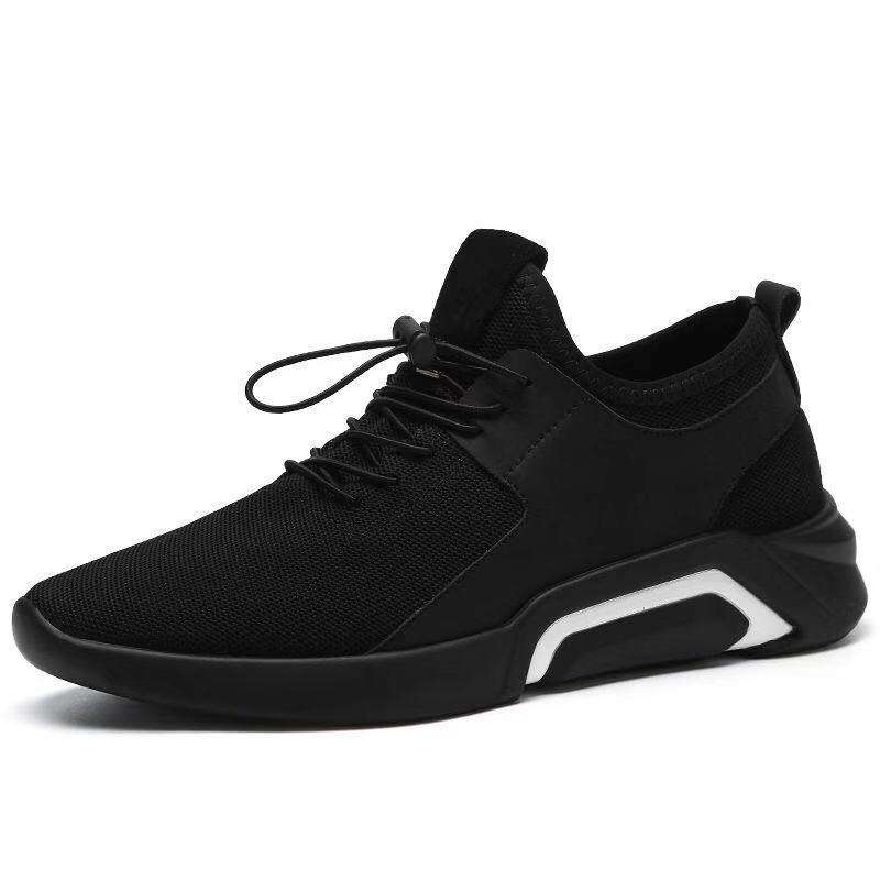 Wholesale Fashion Black Outdoor Sneaker Slip On Casual Running Sport Shoes Men