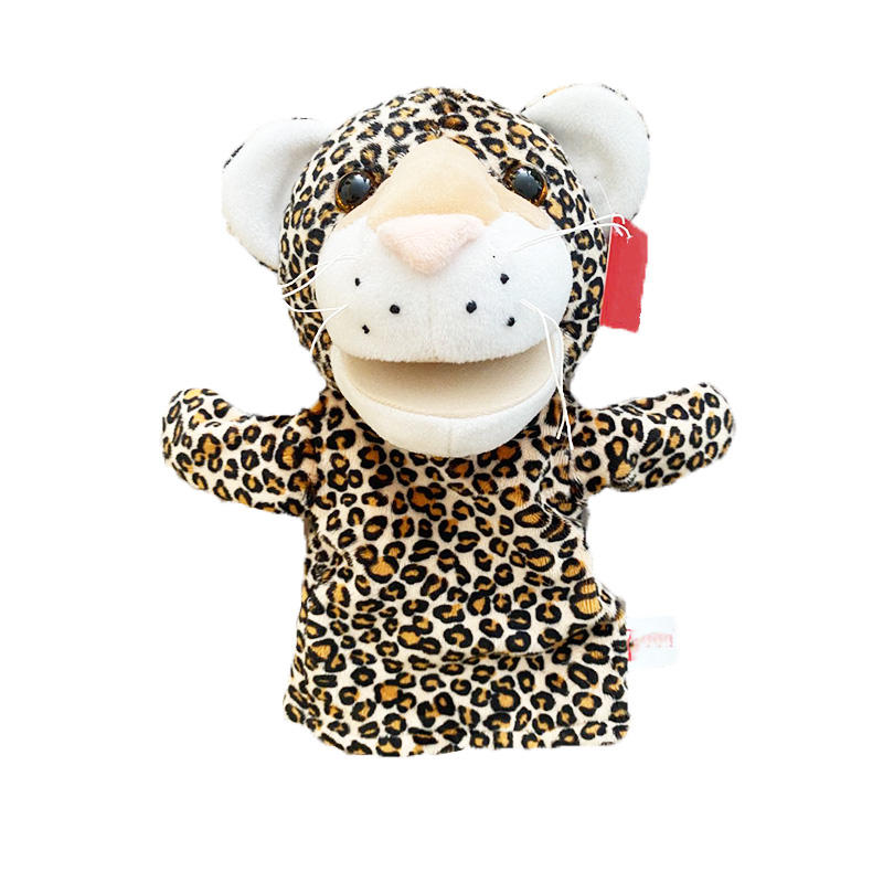Family Educational Leopard elephant tiger zebra Diy Plush puppet Favorable Design Cute Customized Custom Hand Puppet