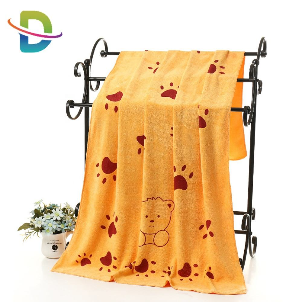 wholesale china printed bath towel sets towel microfiber