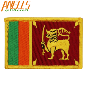 Sri Lanka Internazionale di Bandiera del Paese di Patch Sinhalese Ceylon Leone Ricamato Applique Ferro-on Tactical Morale Patch