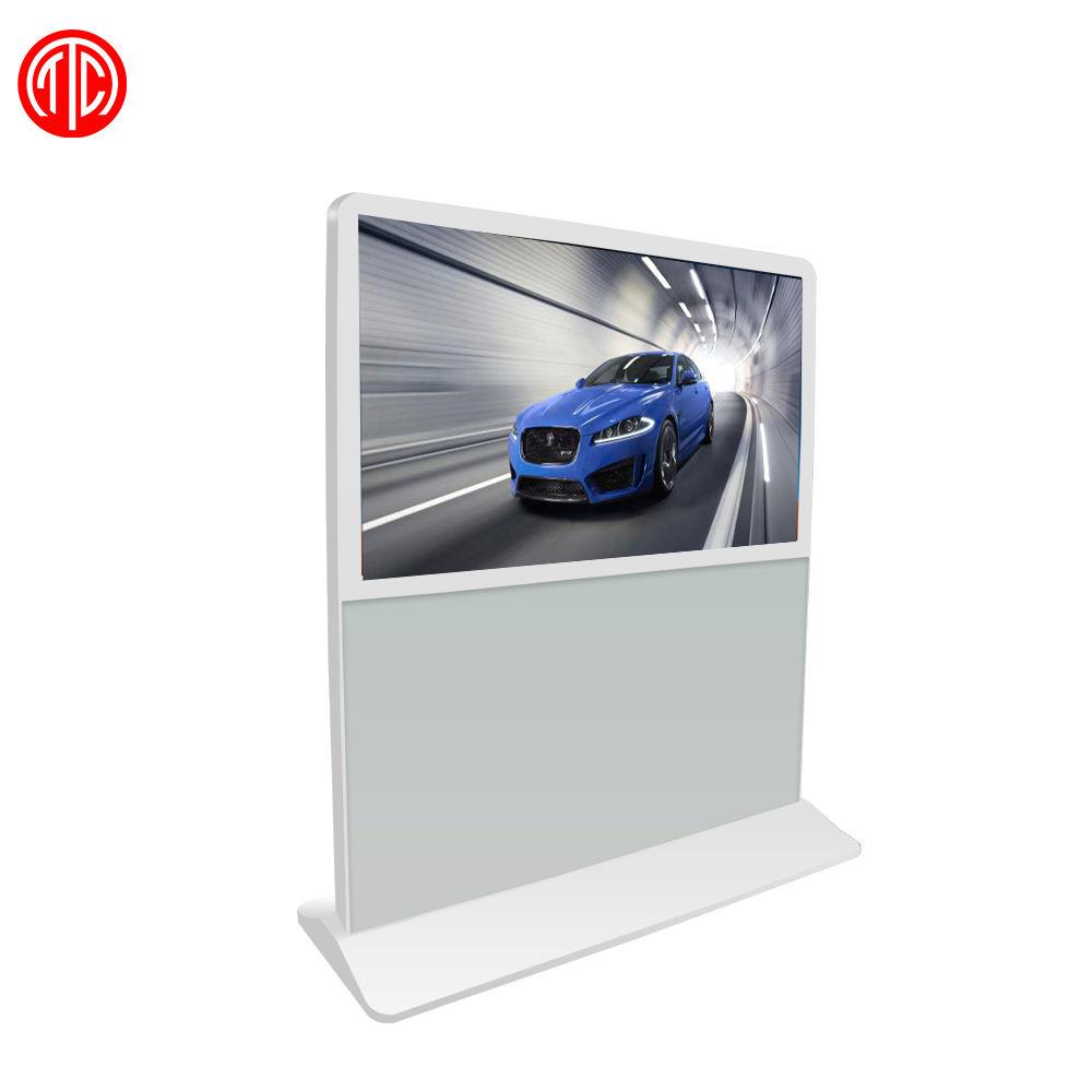 Digital signage display supporto da pavimento A CRISTALLI LIQUIDI dello schermo di tocco di lettore multimediale di pubblicità chiosco totem 43 pollici Android lecteur publicitaire
