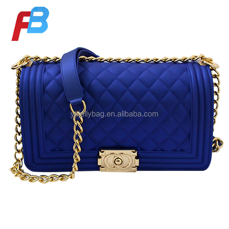 Dongguan Fabriek Tot Selling Hand Zakken Keten Rainbow Fashion Vrouwen Jelly Handtassen Clutch Crossbody Candy Lady Jelly Handtas