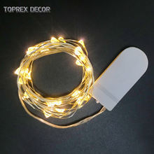 TOPREX DECOR Wholesale CR2032 button battery operated mini copper wire LED fairy string lights