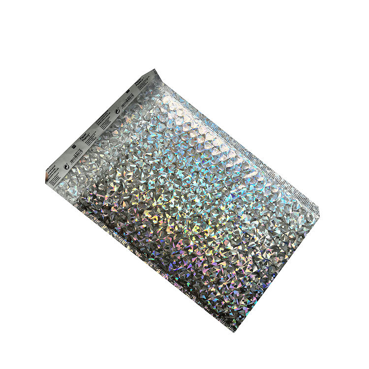 Manufacturer Supply Custom Sizes Shipping Bubble Bags Holographic Metallic Mailers