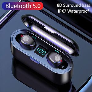 F9 Audifonos Led Display Waterproof Earbuds Headphone Wireless Bluetooth Earphones Auriculares F9 Tws With 2000Mah Power Headset