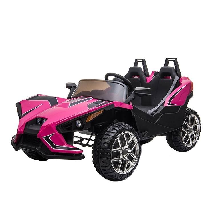 12V Power Kids Electric Ride On Car with R/C Parental Remote And MP3 Light with two Seater