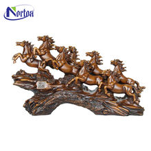 The classical design company desk decoration Pentium bronze eight horses sculpture with high quality