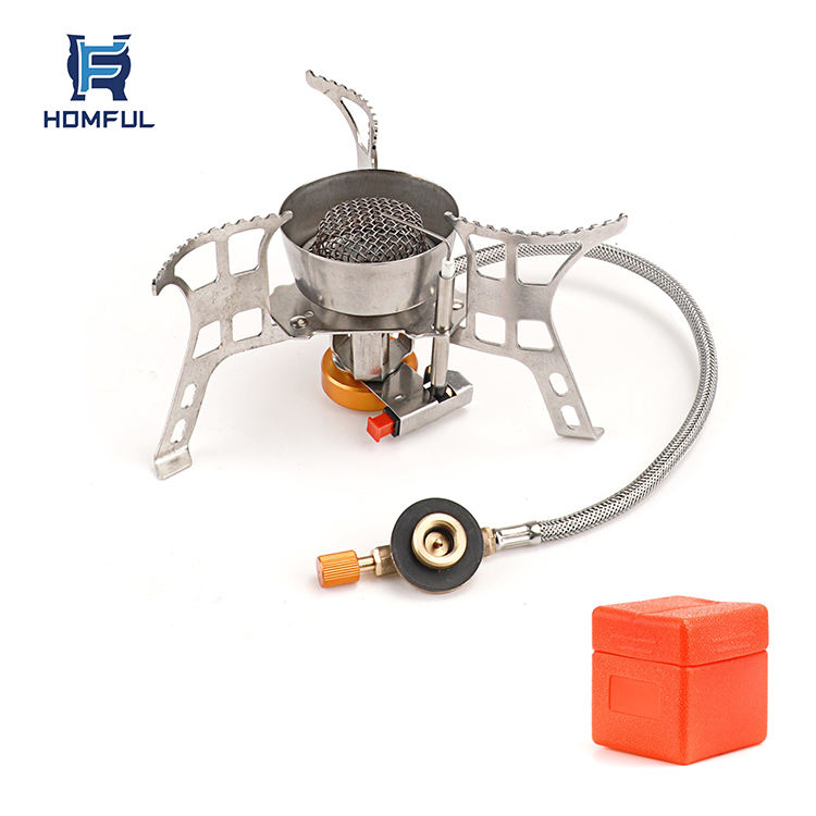 Foldable Stainless Steel Wood Stove Portable Outdoor Camping Stove Picnic H3C8