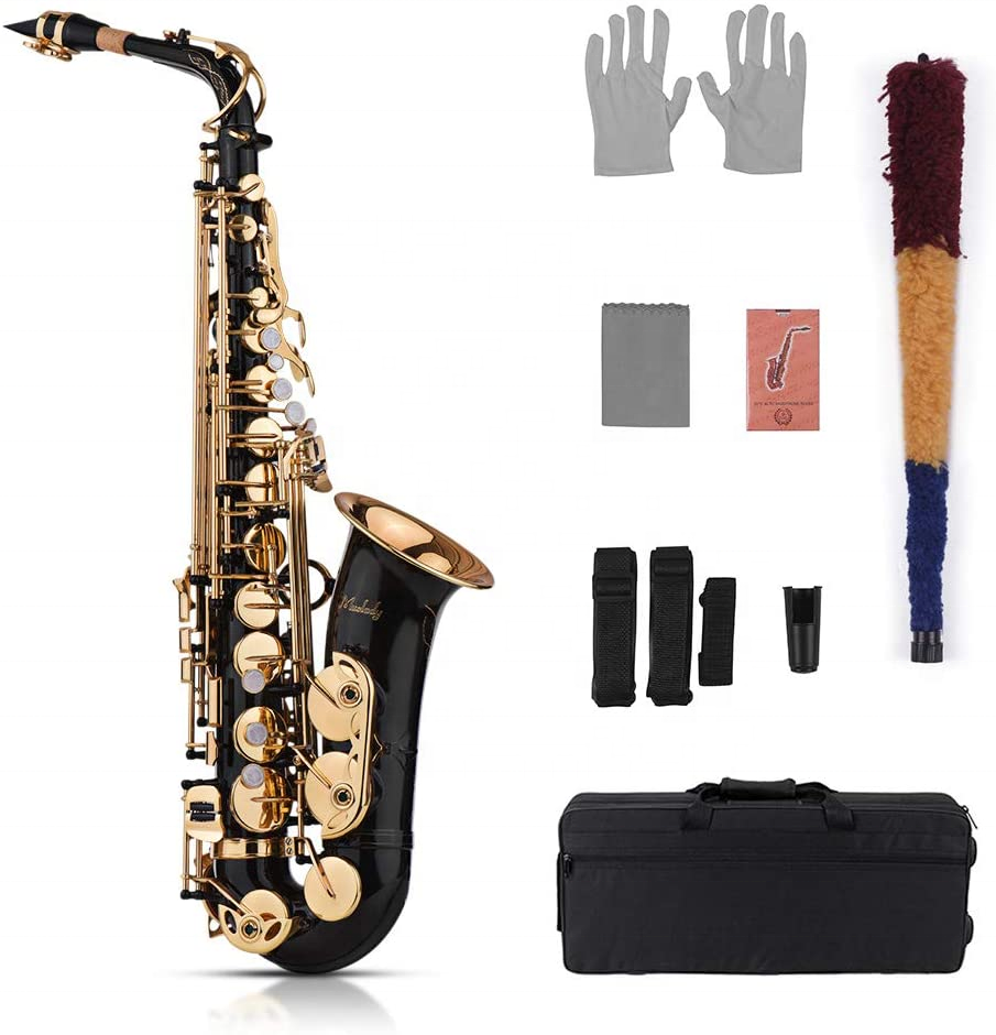 Muslady Eb Alto Saxophone Sax Brass Lacquered Gold 82Z Key Type Woodwind Instrument Saxophone wholesale manufacturers