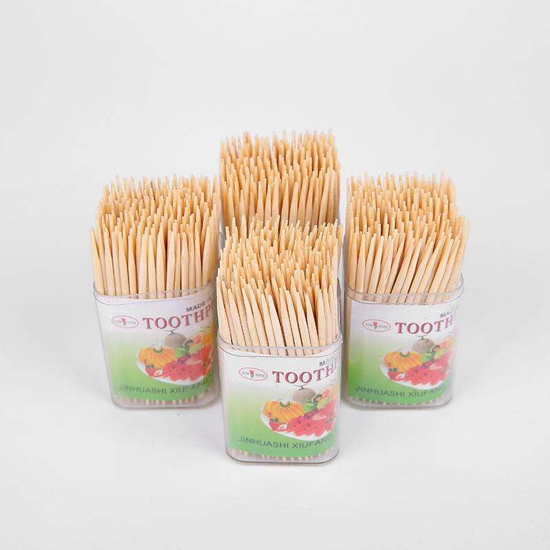 Eco-Friendly Interdental Brush Bamboo Toothpicks, Wholesale biodegradable Tooth pick