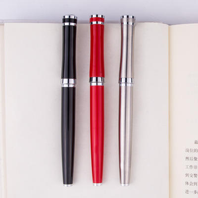 Metal fountain pen custom logo box creative fountain pen office signature gift fountain pen