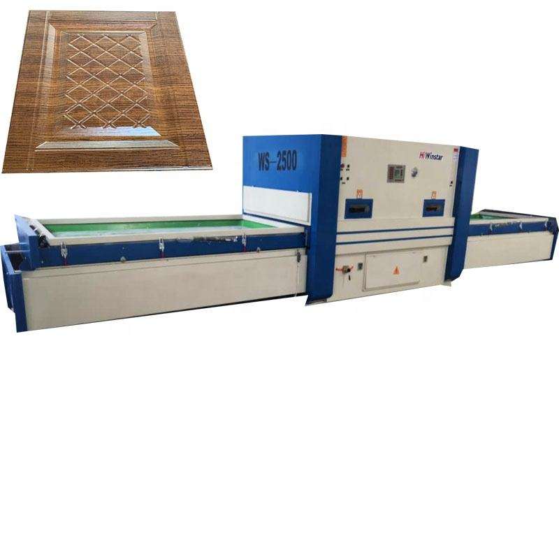 WS2500 woodworking fully automatic laminated heat vacuum forming press machine