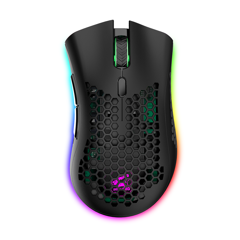 Rgb Breathing Light Lightweight Sports Custom Chip Wireless Light Gaming Mouse