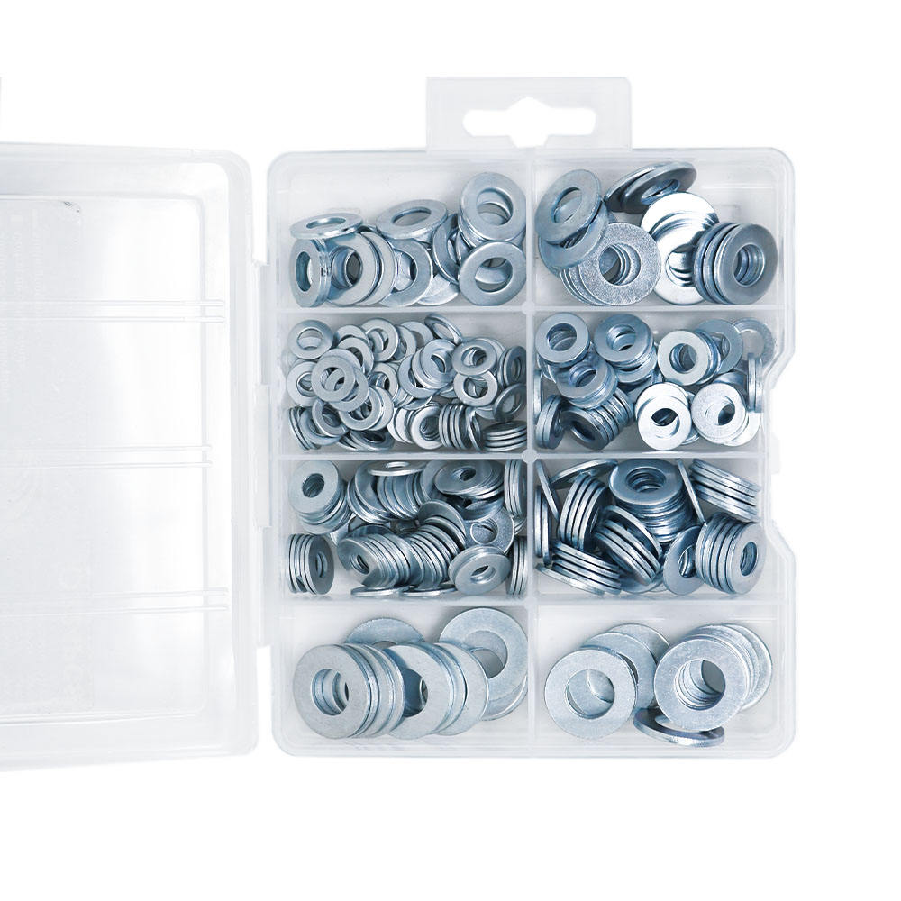 Zinc Plated [ Flat Washer ] Flat Washer DIN125 Flat Washer M6 Zinc Plated Assortment Kit 300Pcs
