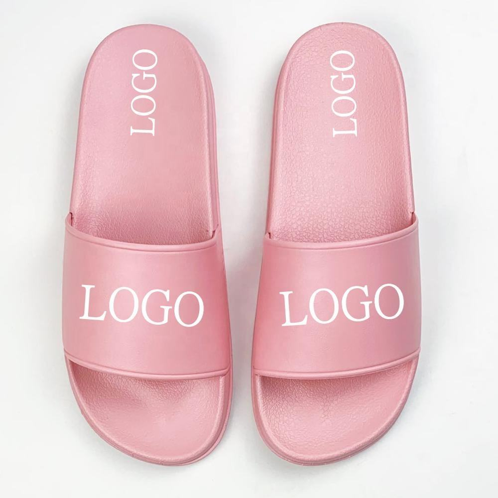 Latest Fashionable Custom Blank Pink Slides Sandals with Logo for Your Own Design Nice Beach Slippers for Women