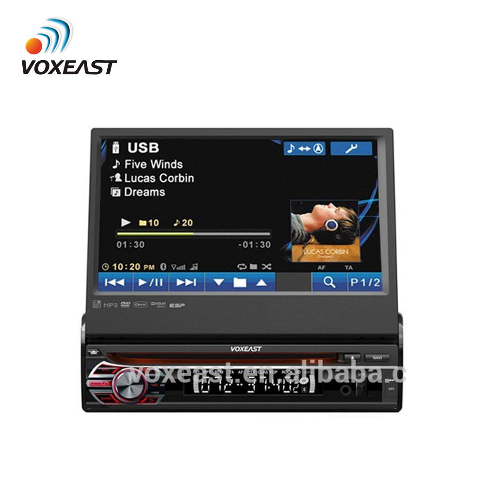 7 pollici auto radio gps 1 din con fm am bluetooth