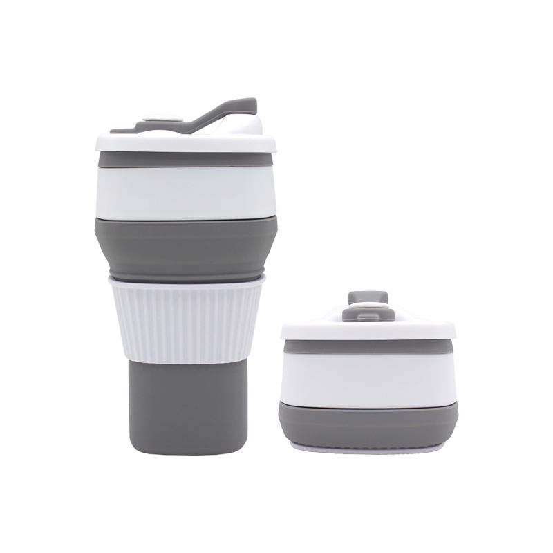 300Ml Free Sample Travel Sport Drinking Custom Telescopic Tube Collapsible Coffee Cup Mug Sport Water Cup