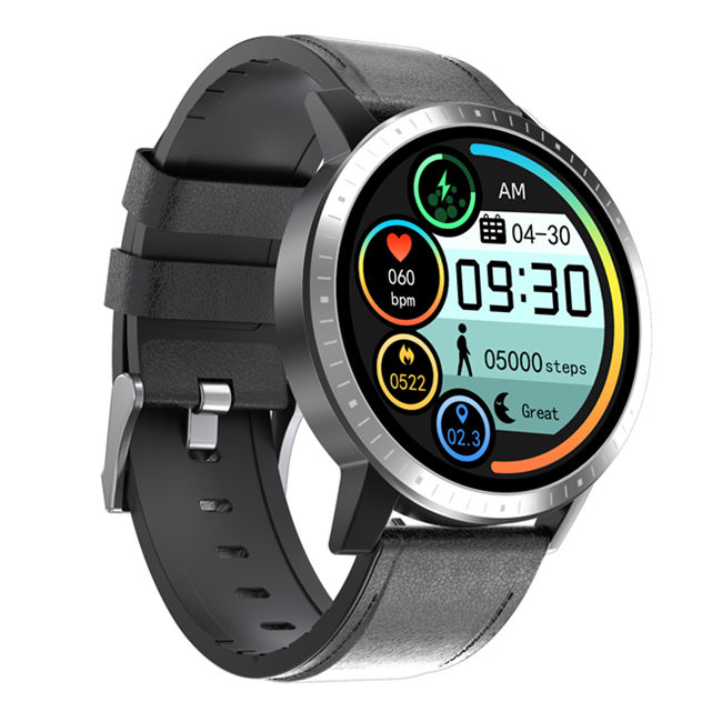 SPO2 PPG ECG Heart Rate Blood Pressure Sleep Monitor Round Smart Bracelet Sport Smartwatch Smart Watch
