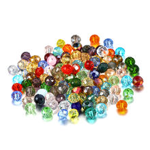 70-300pcs 3/4/6/8mm Translucent Czech Crystal Glass Bead Faceted Colorful Spacer Bead For DIY Bracelet Jewelry Making Supplies