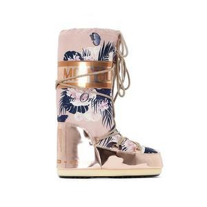 Newest Design Fashion American Long Sexy Pattern Print Winter Snow Moon Boots Women