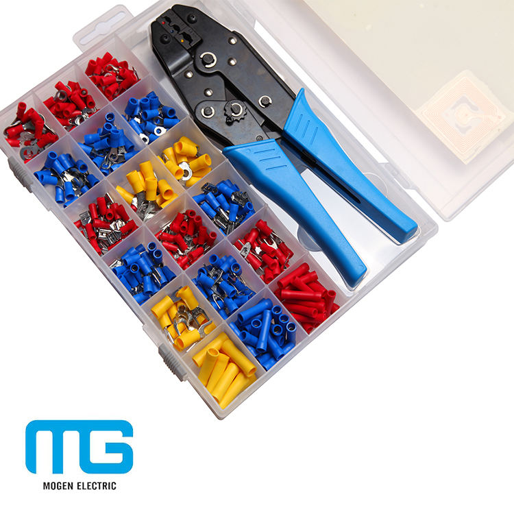 Electric Spade Terminal Connector Kits Crimping Tools