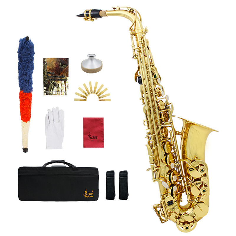 SLADE Gold Eb Performance Practice Brass Instrument alto saxophone With high-grade packaging box accessories Wholesale prices