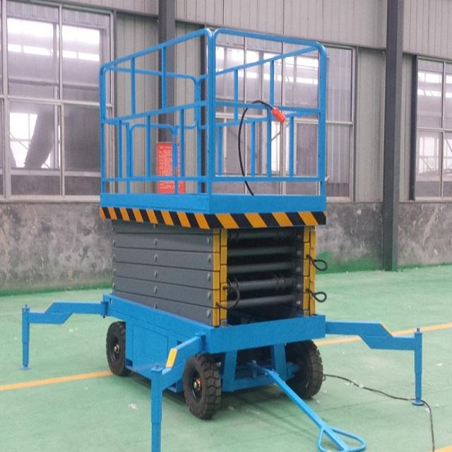 Electric hydraulic lift table scissor platform 1 ton cargo