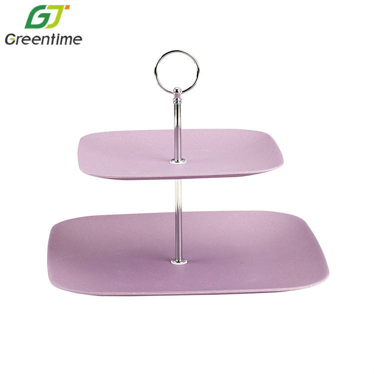 Wholesale Factory Price Sauqre Custom Size Color Pink Cake Stand Luxurious Cake Stands
