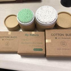 Craft box brown paper box bamboo cotton buds for saving the earth