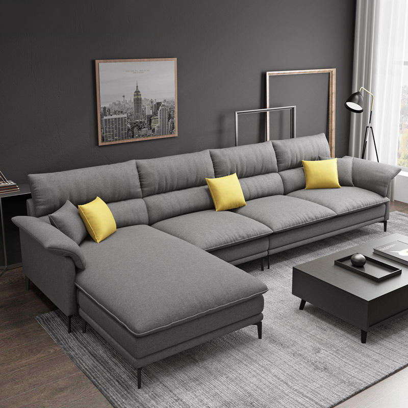 Hot sale L shape sofa for living room foshan home furniture sofa set
