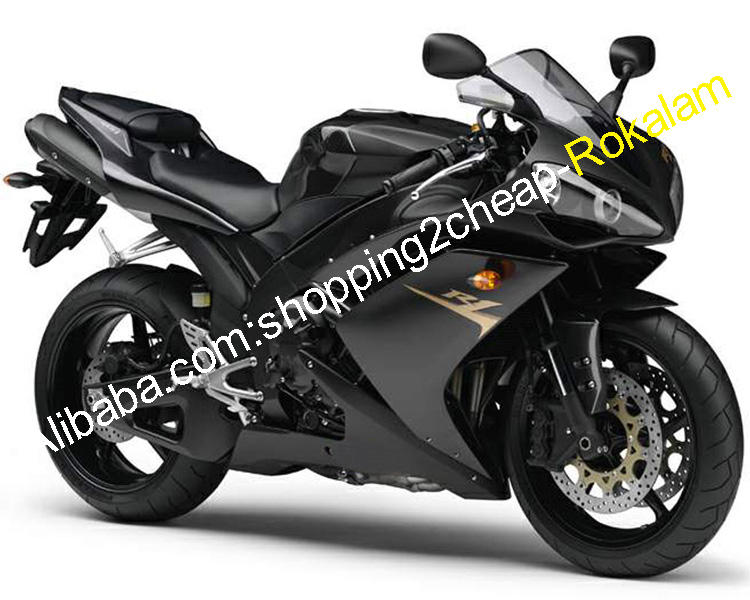 YZF 1000 R1 Motorcycle Fit For Yamaha Fairings YZFR1 2007 2008 YZF-R1 YZF1000 07 08 Black ABS Fairing