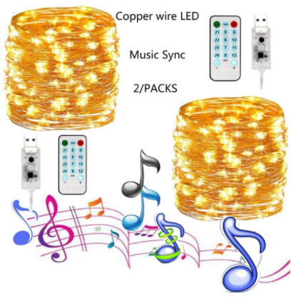 50 LED decoration String Light for Wedding Party Home Garden Bedroom Outdoor Indoor Wall Decorations mobile phone control